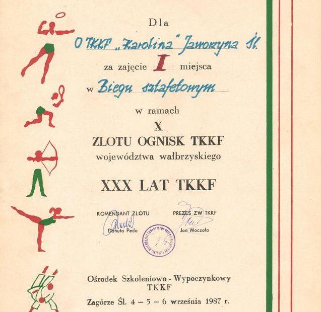 dyplom-tkkf-karolina-jaworzyna-śląska-1987