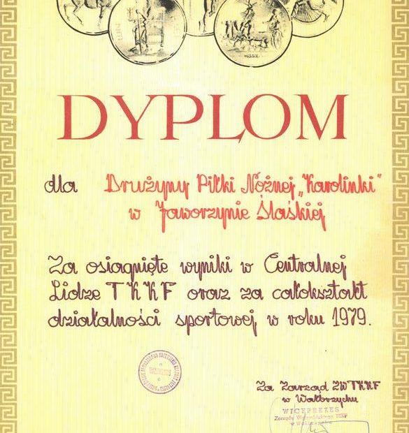 dyplom_Karolinki_Jaworzyna_Śląska_1979