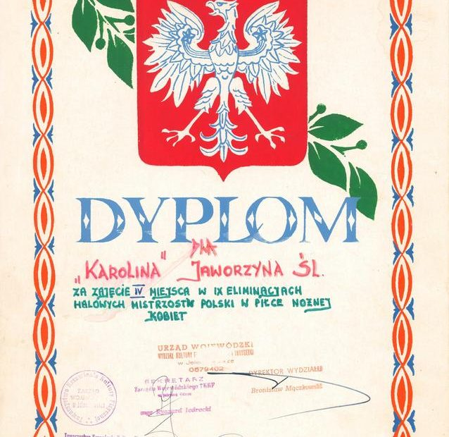 dyplom_Karolinki_Jaworzyna_Śląska_1988