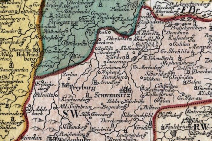 Das Fürstenthum Schweidnitz in Nieder-Schlesien, 1749. Brak Jaworzyny Śląskiej