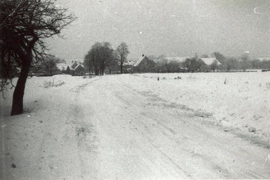 Wieś Czechy zima lata 70