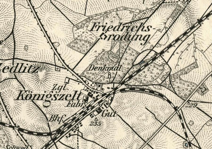 Fragment mapy. Haupt-Vertrieb der Karten der Königlich-Preussische LandesaufnahmeLandes-Aufnahme, Karte 449. R. Eisenschmidt, Verlags-Buchhandlung, 1893 r.