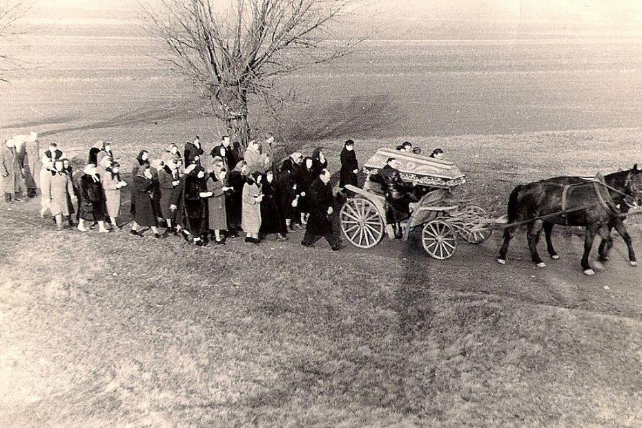 KOndukt pogrzebowy Nowice Wierzbna 1958