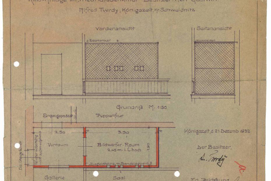 Projekt budowlany Königszelt kinematogaf