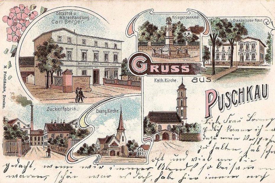 Pastuchów Puschkau widokówka 1885
