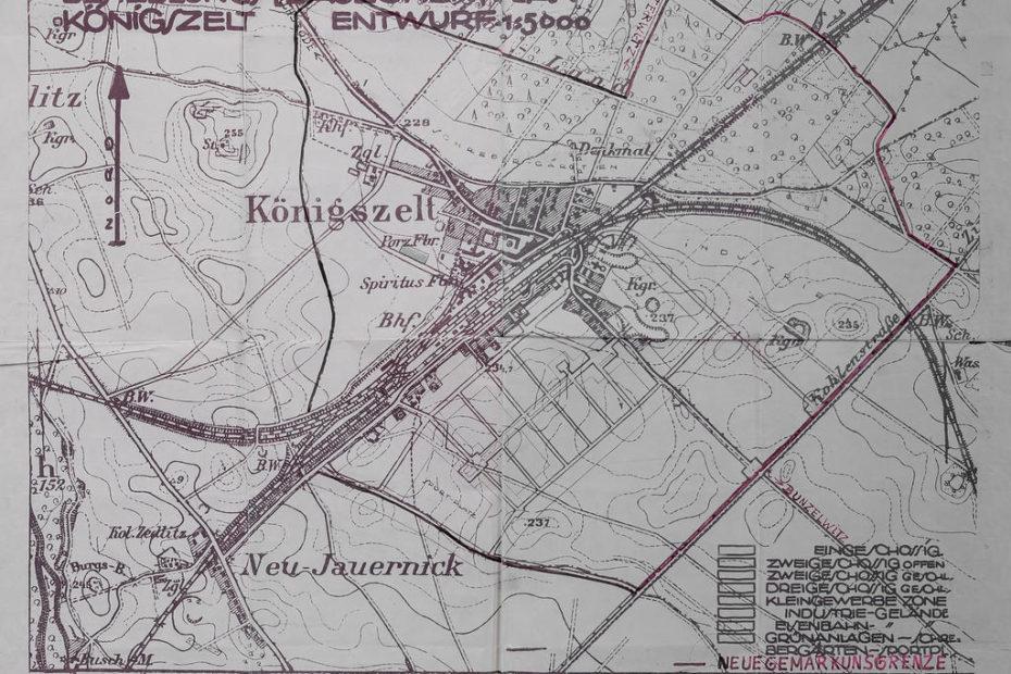 Besiedlung [Bauzonen] Plan) dla miejscowości Königszelt Jaworzyna Ślaska