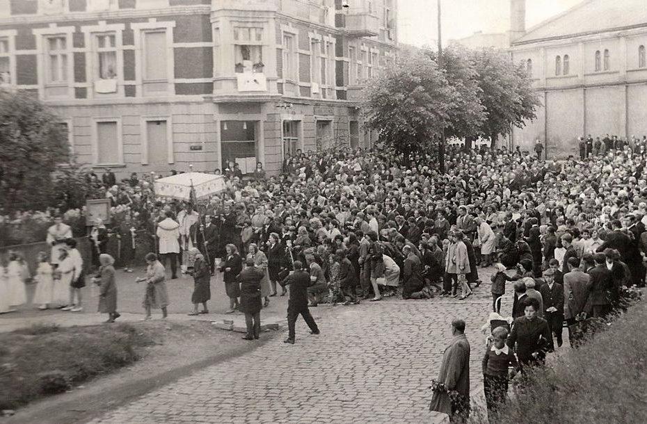 Procesja Bożego Ciała Jaworzyna Śląska 1969