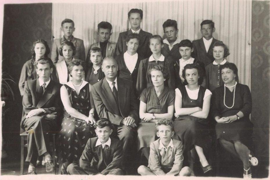 Uczniowie szkoły Jaworzyna Śląska 1958