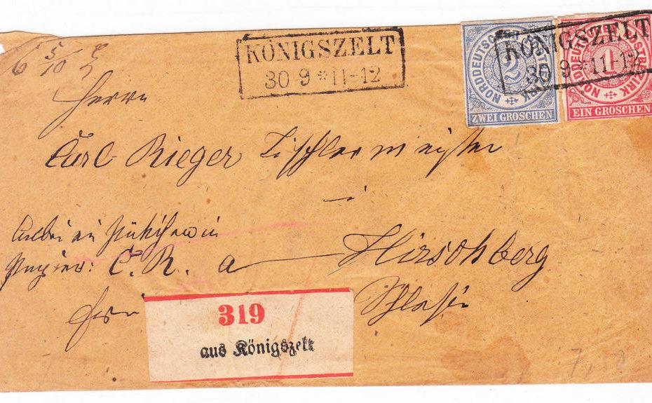 Königszelt Jaworzyna Śląska list
