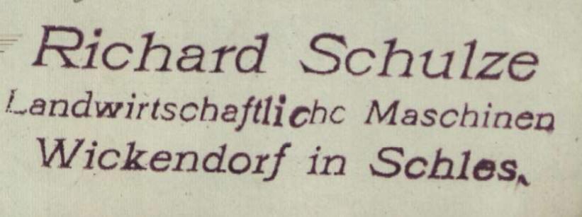 Richard Schulze Witków Wickendorf
