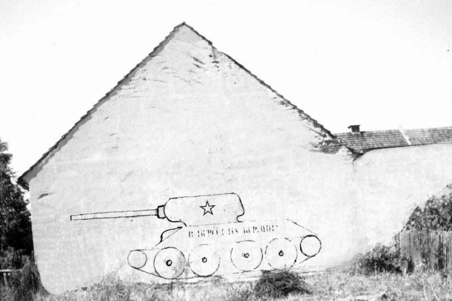 Piotrowice Świdnickie rysunek czołgu
