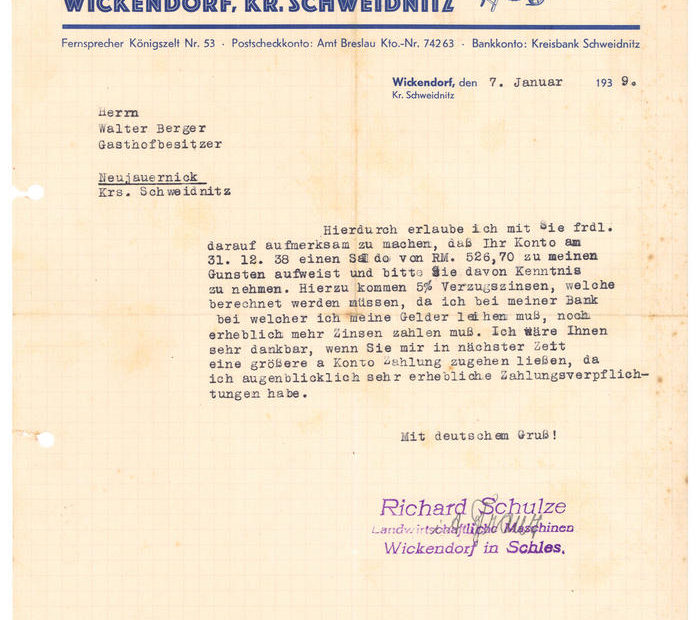 Wezwanie do zapłaty Wickendorf Witków