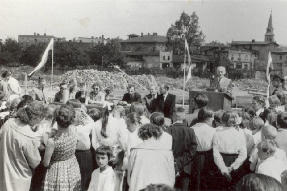 Wmurowanie kamienia węgielnego Szkoła Podstawowa w Jaworzynie Śląskiej
