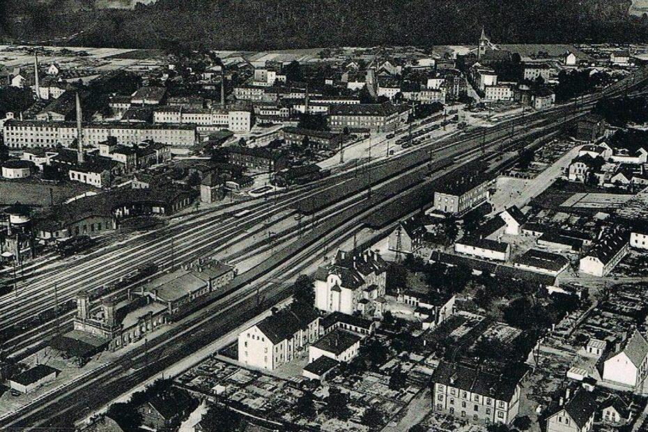 Jaworzyna Śląska widok z lotu ptaka lata 30 XX wieku