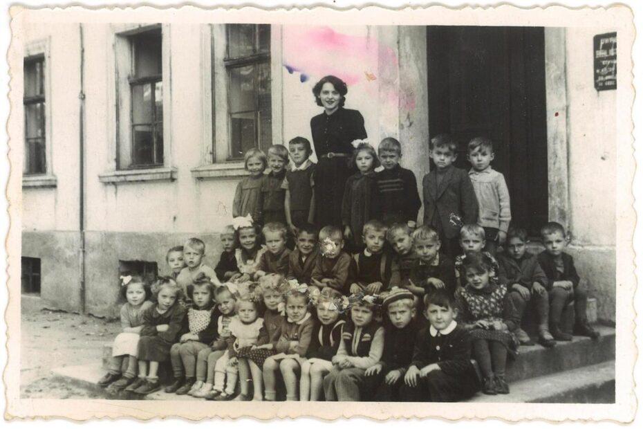 Przedszkole kolejowe Jaworzyna Śląska 1955 56