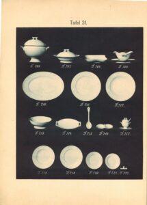 Katalog fabryki porcelany Jaworzyna Śląska karolina 1895