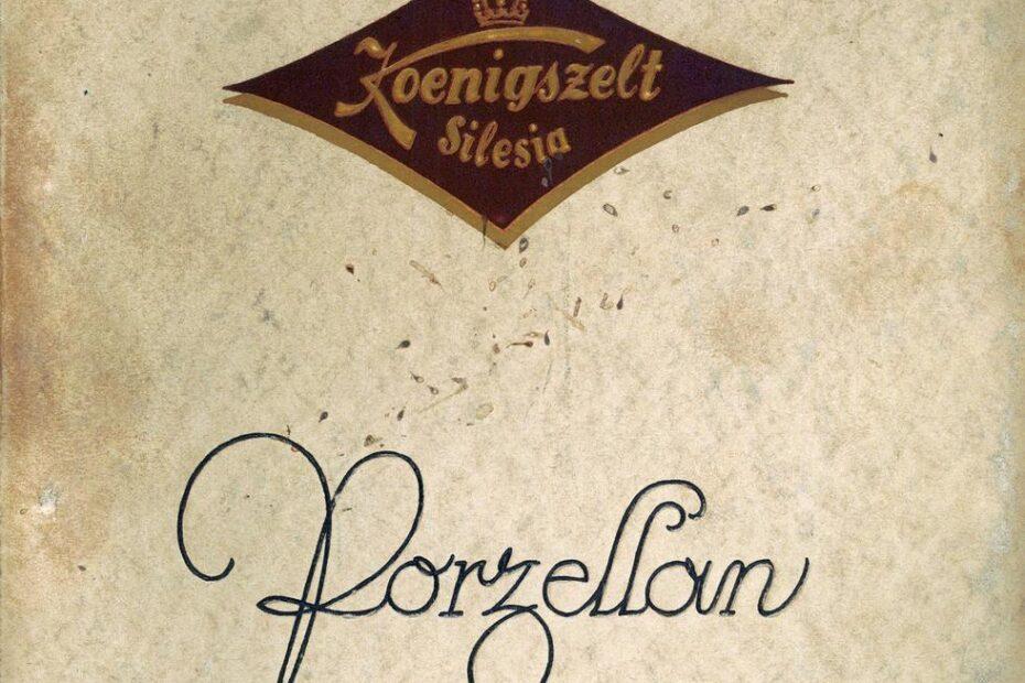 Katalog Porzellanfabrik Königszelt porcelana Jaworzyna Śląska 1927