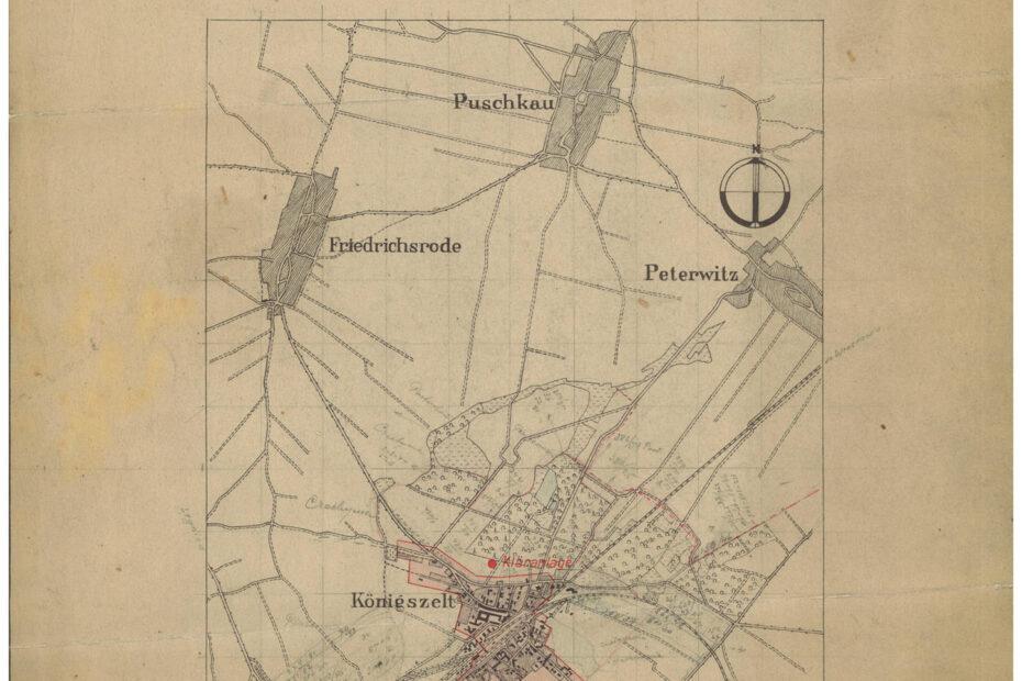 Mapa Gmina Jaworzyna Śląska Königszelt 1941
