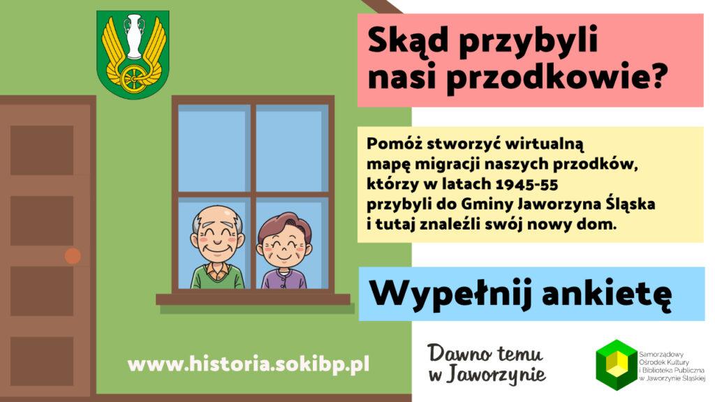 Skąd przybyli nasi przodkowie? Gmina Jaworzyna Śląska