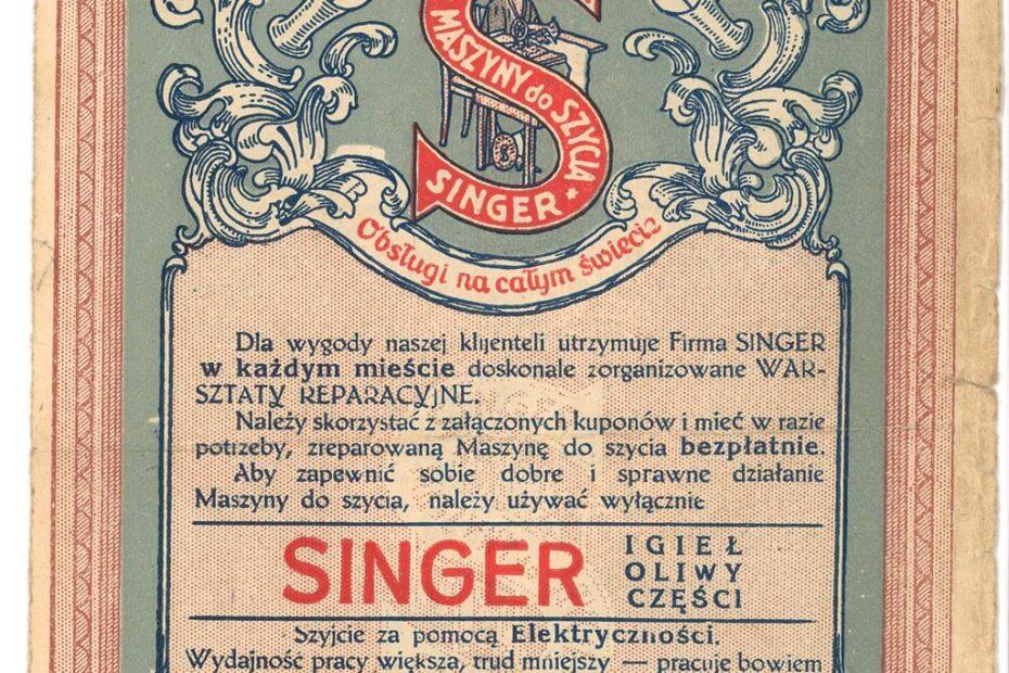Kupona na naprawę maszyny do szycia Singer