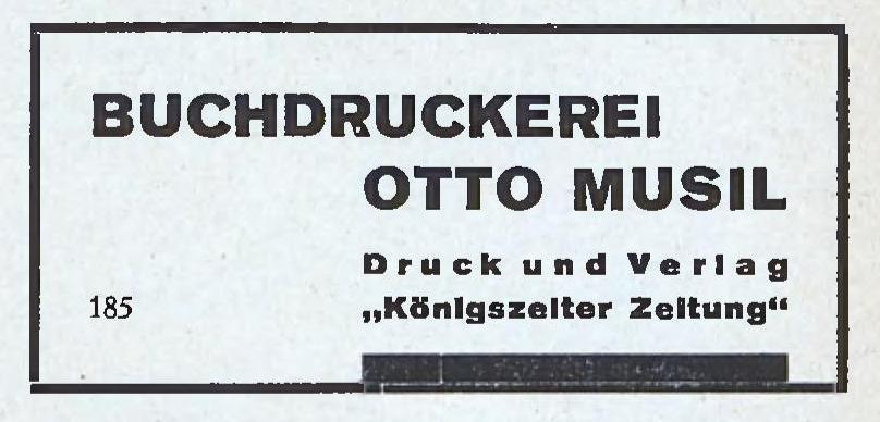 Musil Otto Buchdruckerei mit Zeitungsverlag Jaworzyna Śląska