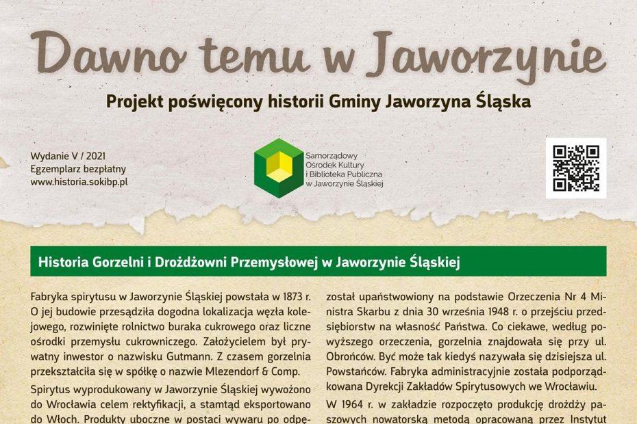 Dawno temu w Jaworzynie numer 5/2021 okładka